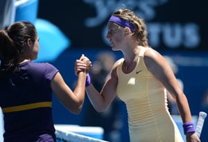 Victoria Azarenka survives Jamie Hampton scare to make fourth round