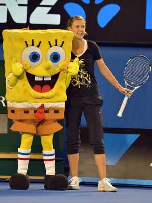 Champ Victoria Azarenka gives boot to toe woe
