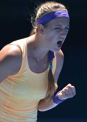 Australian Open: Victoria Azarenka wins 1st-round match