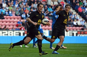 Former Wigan star Leighton Baines grabs point for Everton