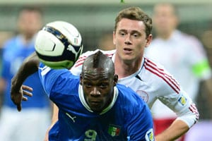 10-men Italy rout Denmark for a 3-1 victory