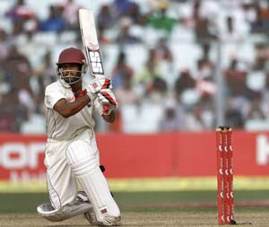 Adrian Barath getting help from Windies legend Greenidge
