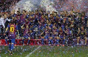 Barca win Spanish Cup to give Guardiola perfect send off