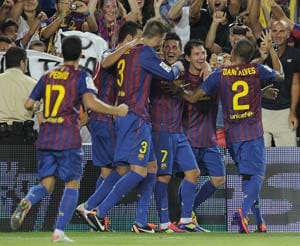 Barcelona fined UEFA over for Super Cup delay