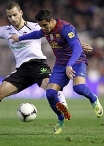 Barcelona draw 1-1 at Valencia in Copa semi-final