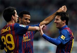 Messi hat-trick inspires Barcelona triumph