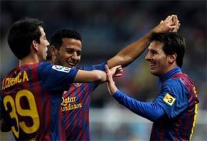 Messi hat-trick inspires Barcelona triumph