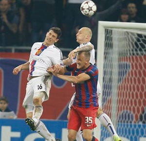 Steaua Bucharest and Basel draw 1-1 in Champions League