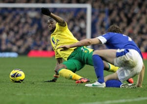 Norwich earns 1-1 draw at Everton in EPL