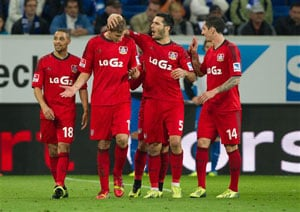 'Ghost goal' helps Bayer Leverkusen top Bundesliga table