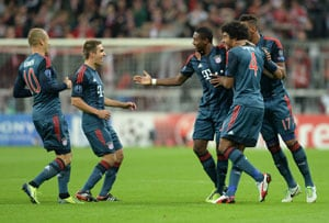 UEFA Champions League: FC Bayern Munich lead way on a record 30-goal night