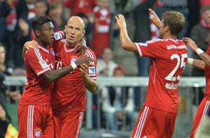 FC Bayern Munich beat Borussia Moenchengladbach 3-1 in Bundesliga opener
