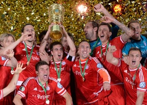 Bayern Munich win the German Cup to claim historic treble