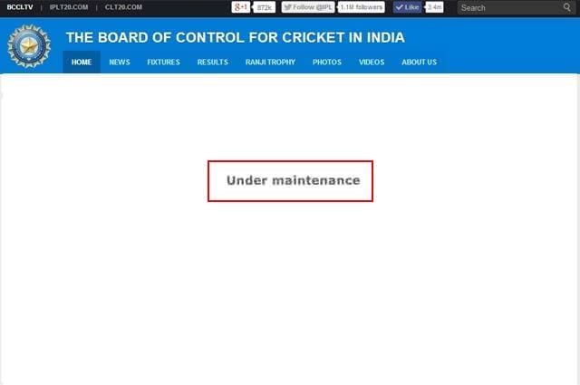 BCCI's website hacked, defaced: Reports