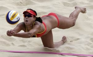 Olympics: Fear not, bikinis galore in beach volleyball opener