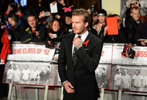 I'm not very good at acting, says David Beckham at Manchester United film premiere