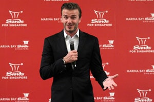 David Beckham signs deal to promote casinos in China