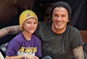 It's Rooney for David Beckham's son, Romeo