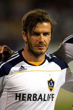 Galaxy okay Beckham for Neville testimonial