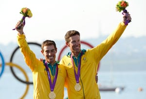 London 2012: Aussies Belcher, Malcolm win 470 sailing gold