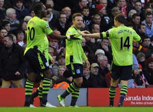 Benteke rampant as Villa curb Liverpool revival