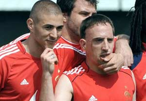 Franck Ribery and Karim Benzema on trial for soliciting minor