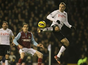 Birthday boy Dimitar Berbatov celebrates with Fulham win over West Ham