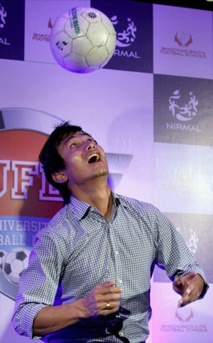 Baichung Bhutia moots University Football League