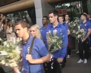 EPL side Blackburn Rovers arrives in Pune