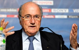 Sepp Blatter tells Brazilian fans to respect their president