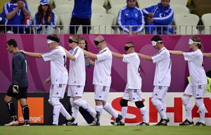 Euro 2012: Blind players shine ahead of Euro quarter-final