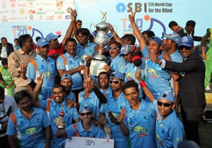 Cash award for blind T20 World Cup boys from Karnataka