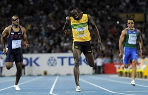 Bolt shines in World Championships as US tops table