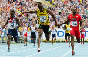 Usain Bolt wins 4x100m relay gold, equals Carl Lewis' record at World Athletics Championships