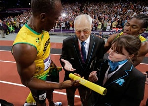 London 2012: Usain Bolt's medal-winning baton returned after high drama