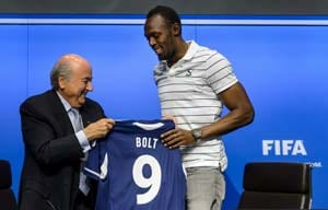 Usain Bolt tips Brazil to win 2014 football World Cup