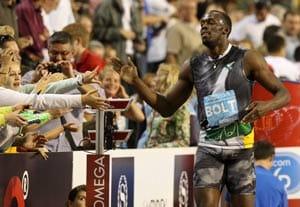 Sluggish Bolt wins as sharp Blake also triumphs
