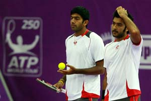 Bopanna-Qureshi beat Djokovic-Troicki at India Wells