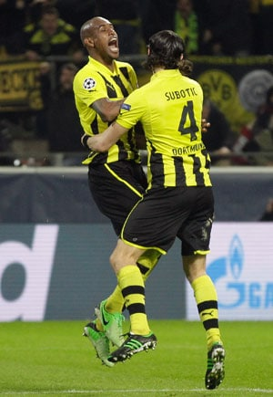 UEFA Champions League: Borussia Dortmund leave it very late to defeat Malaga 3-2