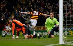 Bradford stuns Aston Villa 3-1 in League Cup semi final