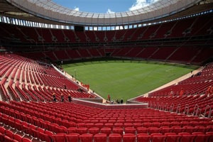 Brazilian President Dilma Rousseff opens Brasilia World Cup stadium