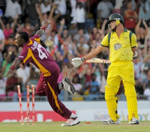 West Indies draw series with Australia after 14-run win