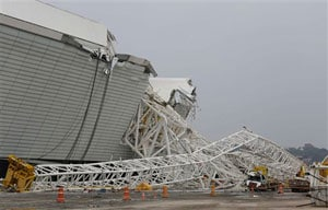 Brazil World Cup stadium roof partially collapses