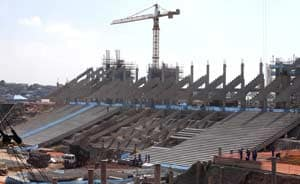 Brazil government assures work on football stadiums on schedule