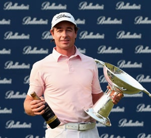 Brett Rumford wins Ballantine's with play-off eagle