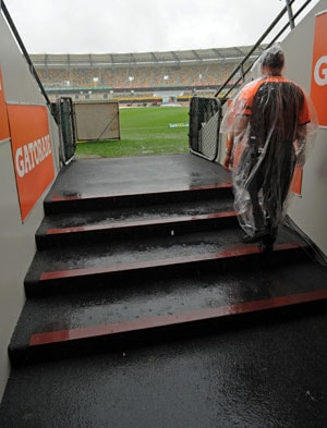 Second day washout in Brisbane Test