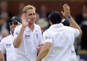 England's Stuart Broad and Graeme Swann feature in county final