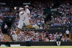 "Bob, Mike wrap up the ""Bryan Slam"" at Wimbledon"