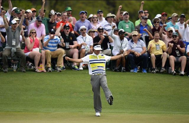 Bubba Watson grabs Augusta Masters lead with five-birdie streak