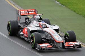 McLarens fastest in year's first practice at Australian GP